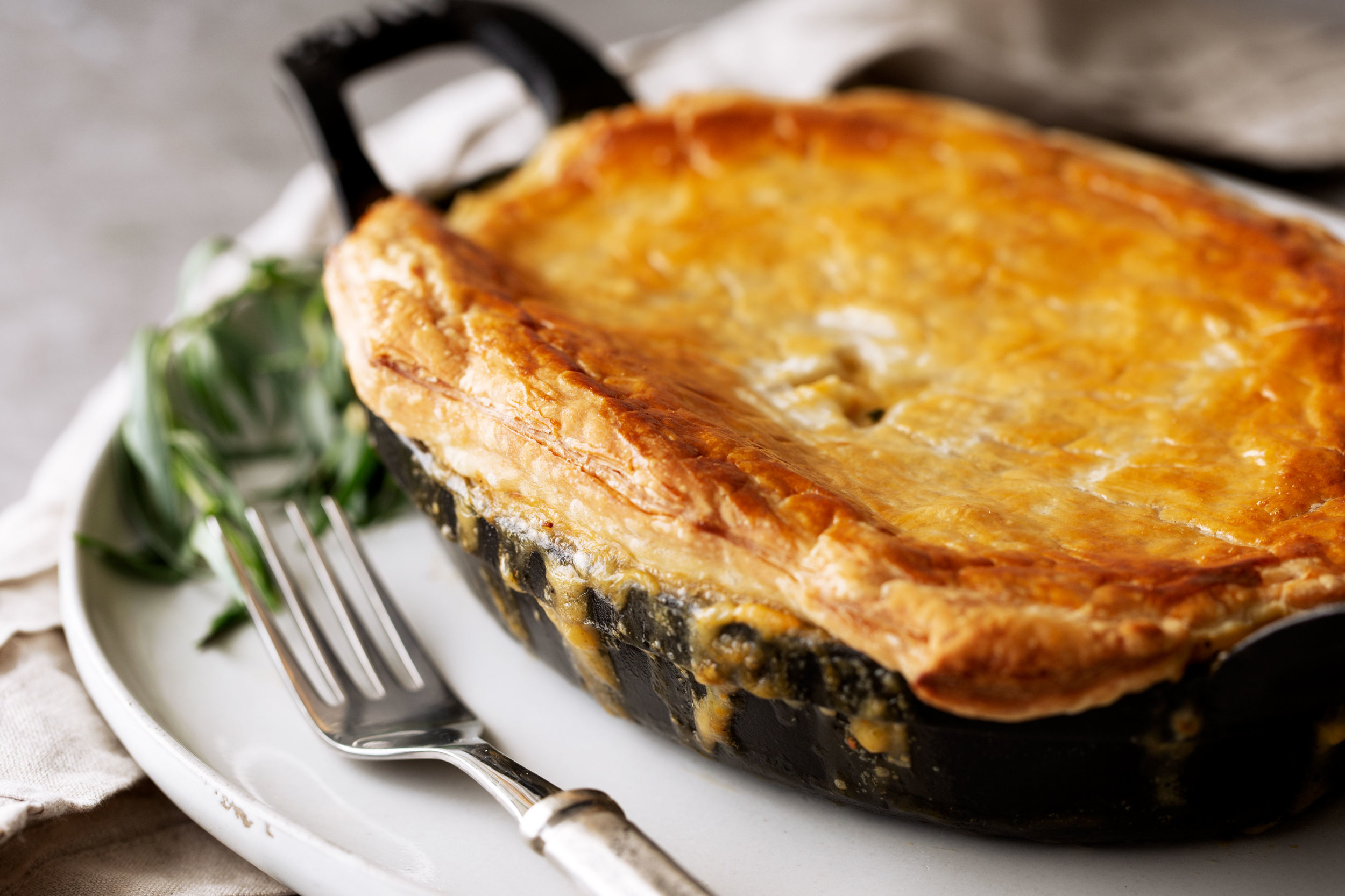 Lobster Pot Piebaked puff pastry topping
