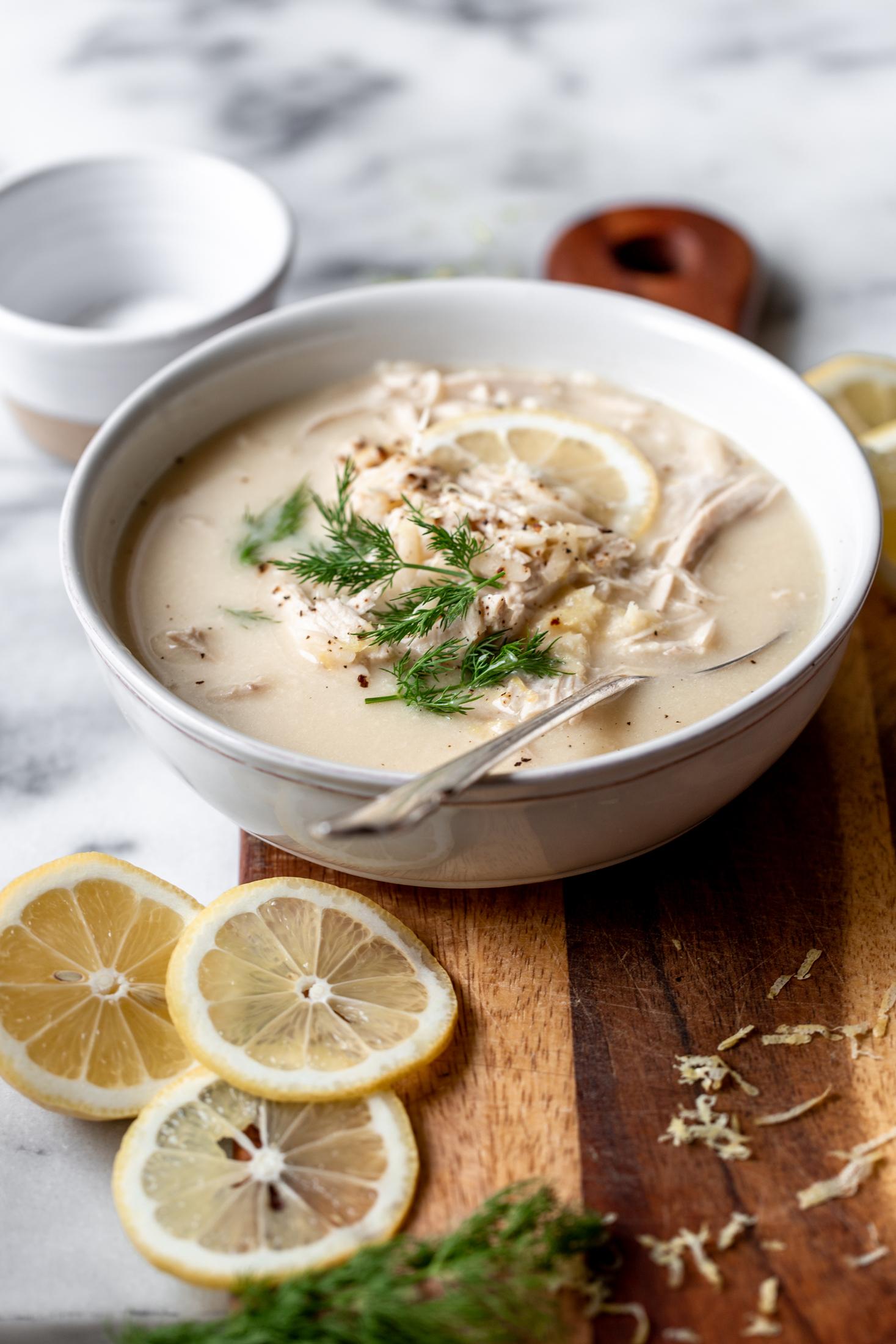Greek Lemon-Egg Chicken Soup (Avgolemono)