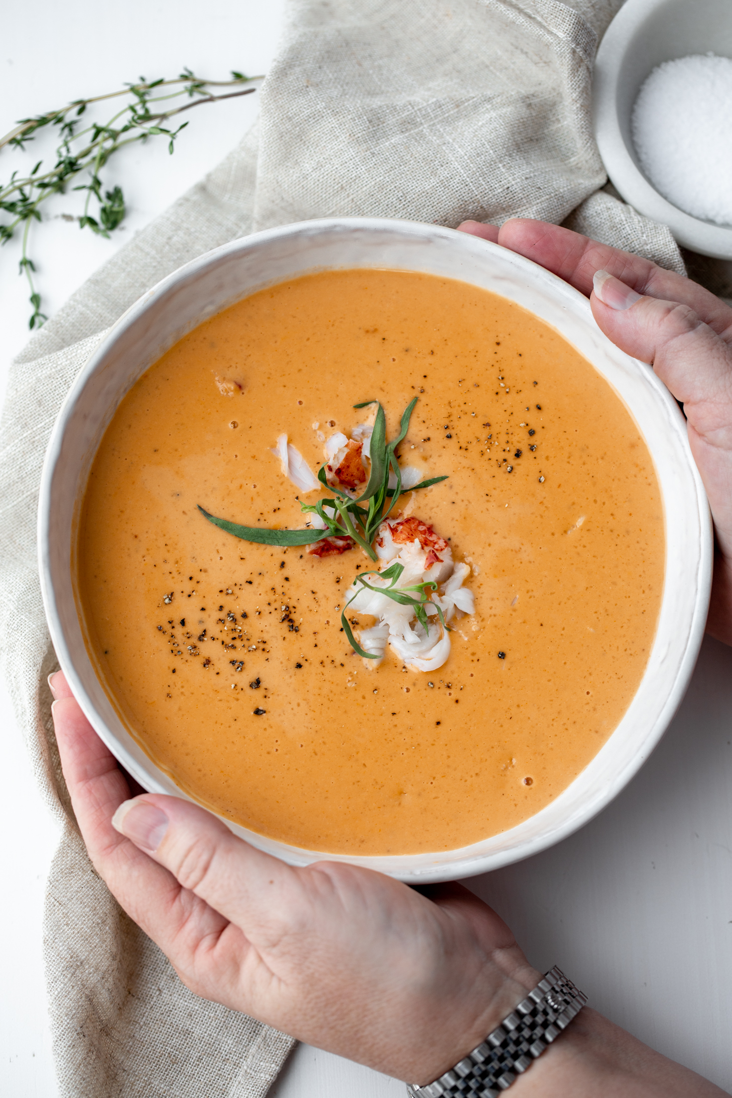 lobster bisque recipe from cooking with cocktail rings