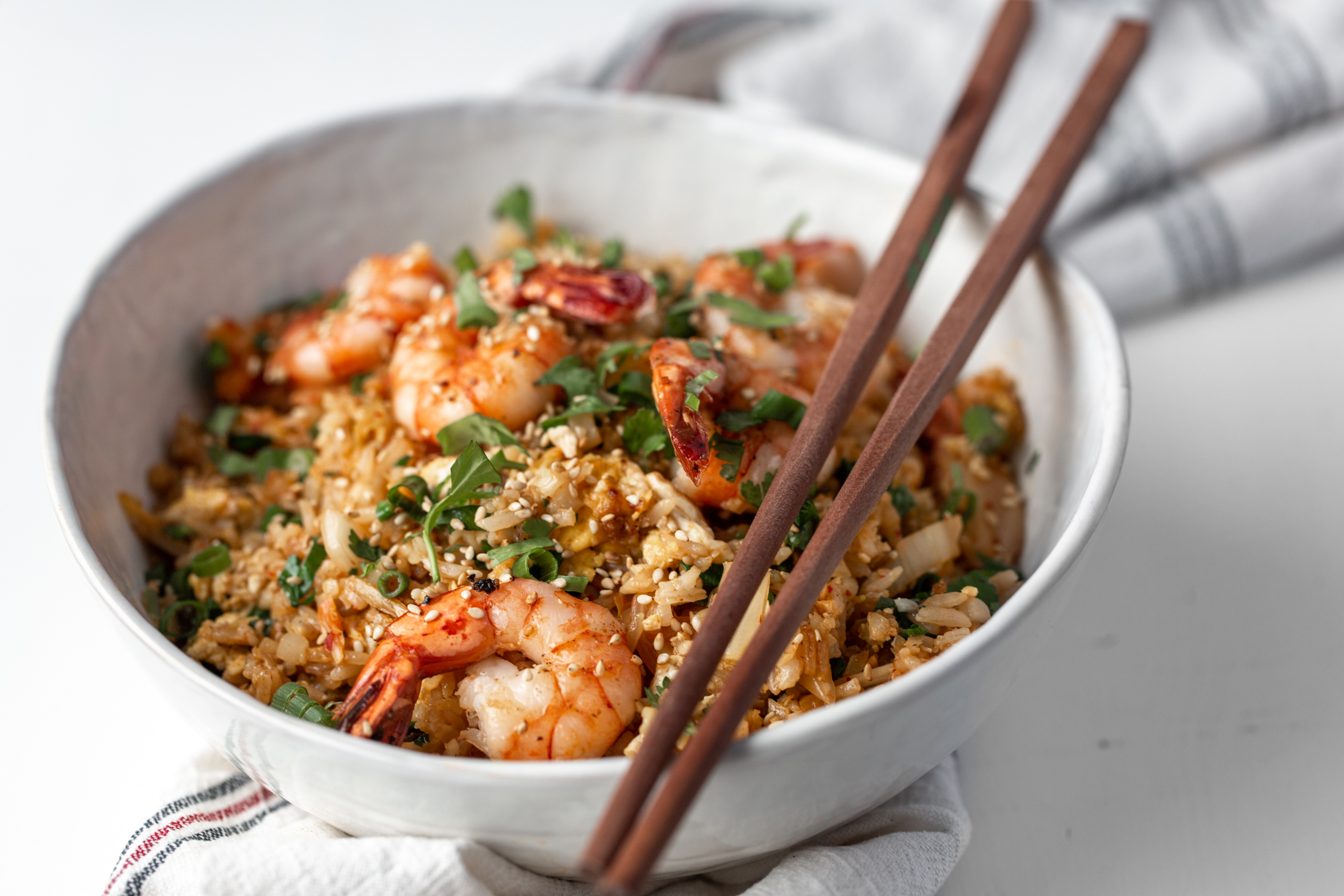kimchi cauliflower fried rice recipe from cooking with cocktail rings