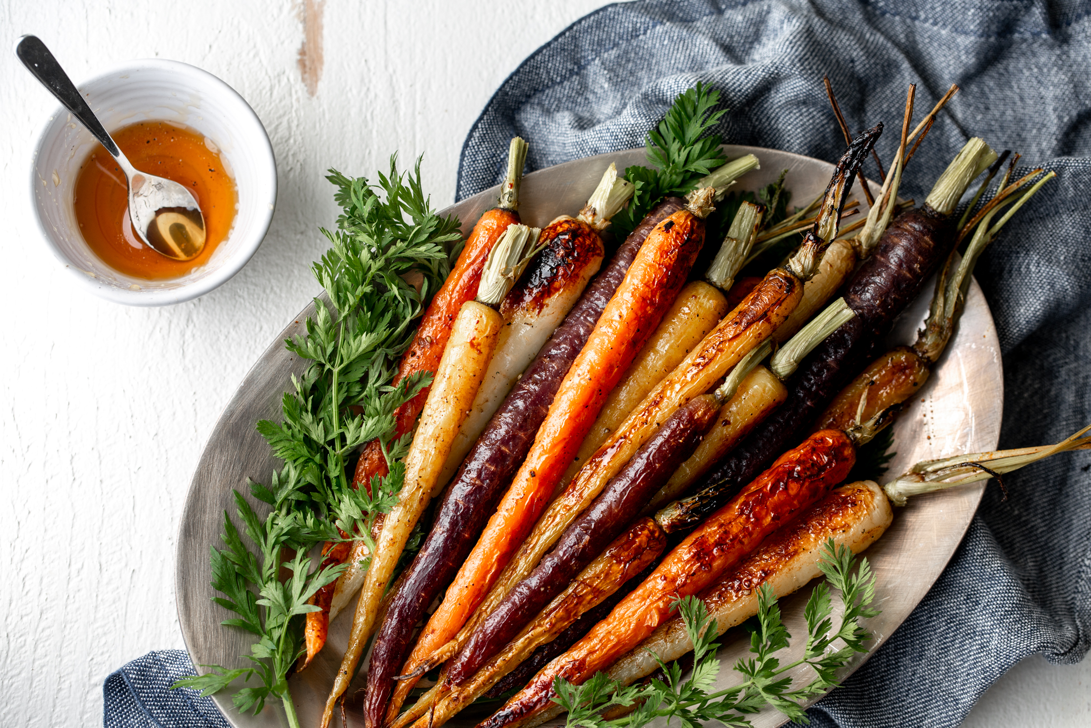 honey roasted carrots recipe from cooking with cocktail rings