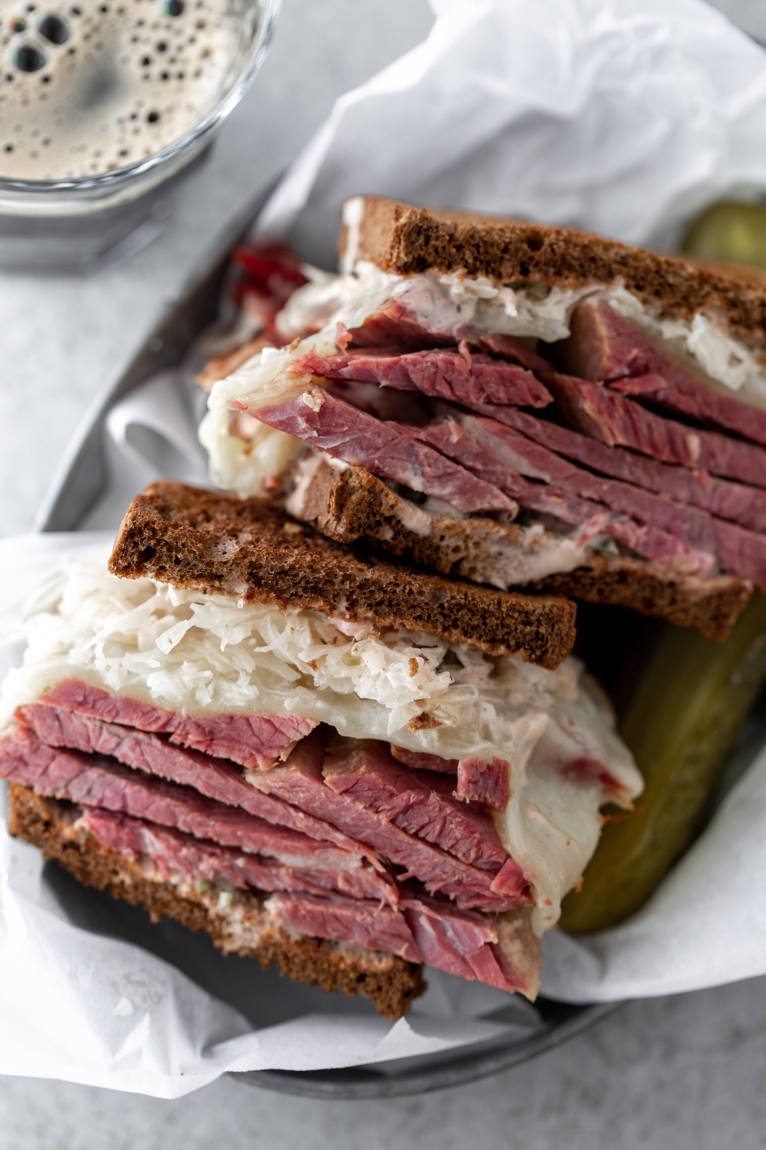 reuben sandwich recipe from cooking with cocktail rings closeup