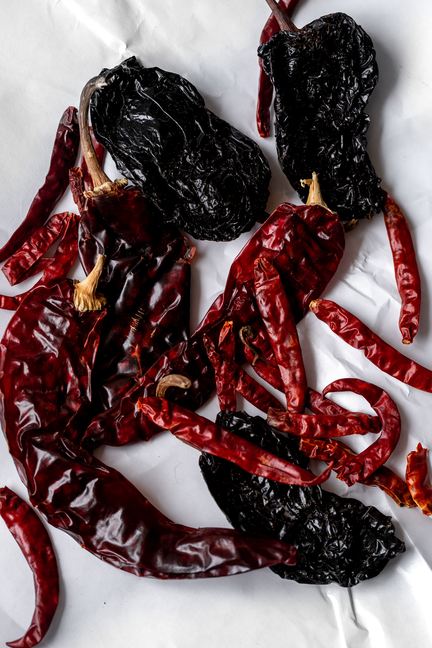 dried chilies ingredient shot