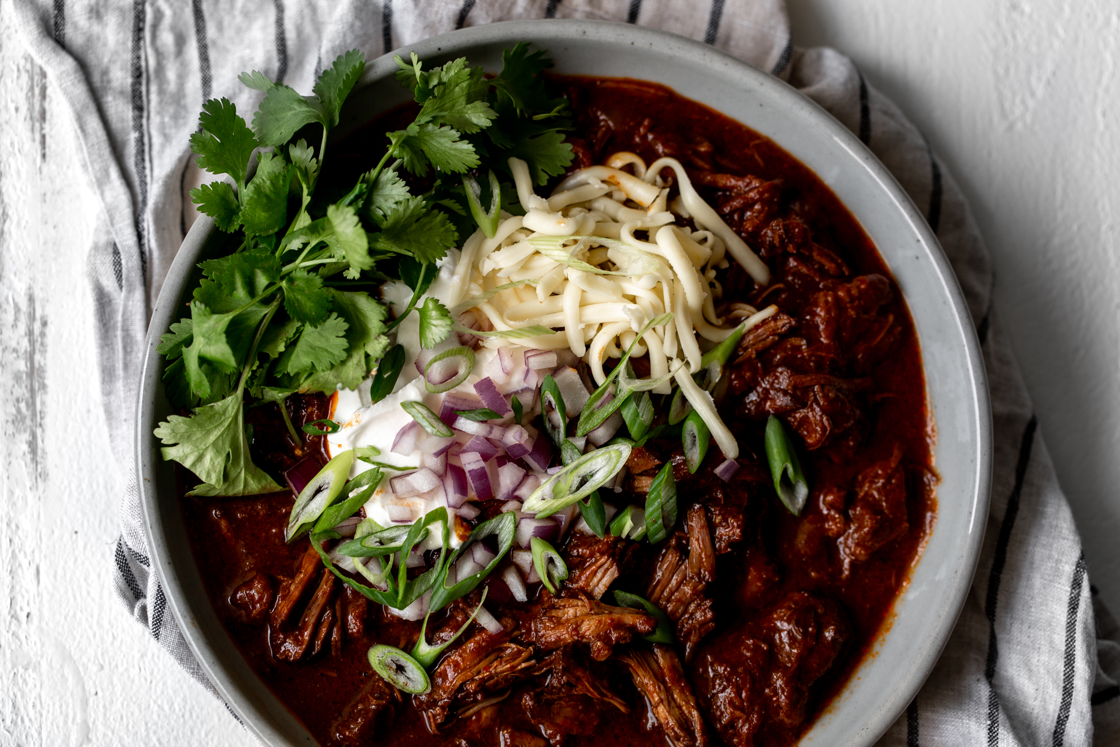 Texas-Style Beef Short Rib Chili, Two Ways recipe from Cooking with Cocktail Rings