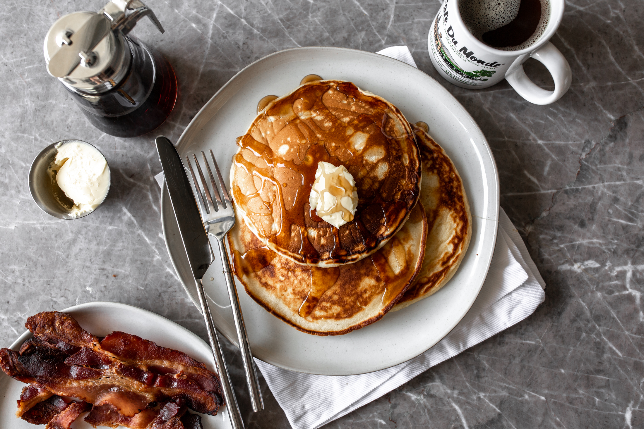Diner Style Buttermilk Pancakes Cooking With Cocktail Rings