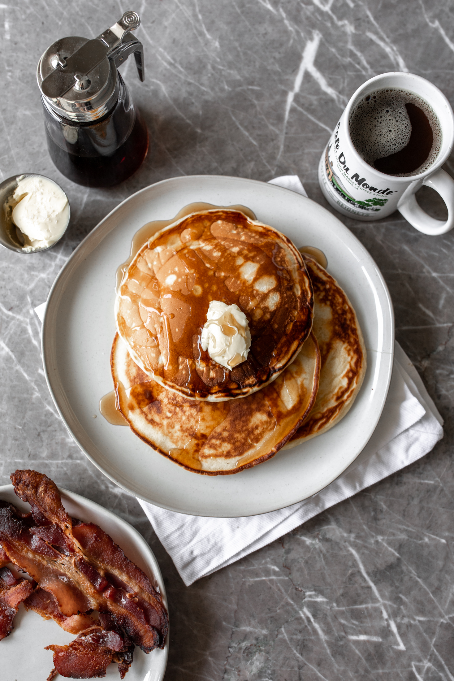 Diner-Style Pancakesfrom cooking with cocktail rings
