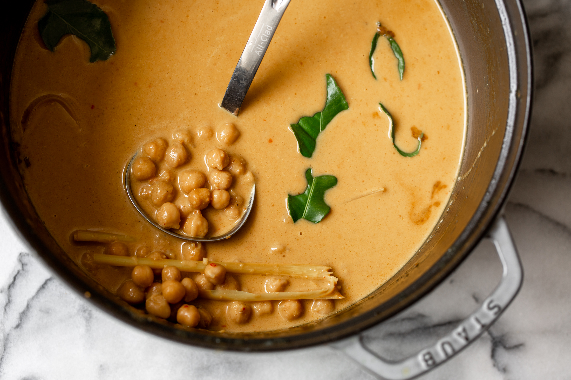 Chickpea Coconut Curryrecipe from cooking with cocktail rings in pot