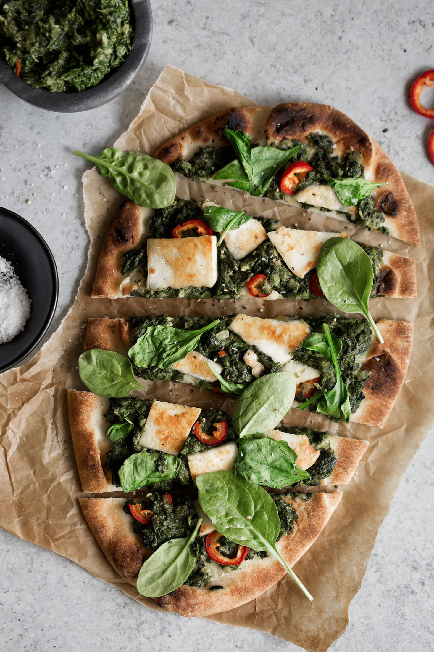 saag paneer naan pizza recipe from cooking with cocktail rings