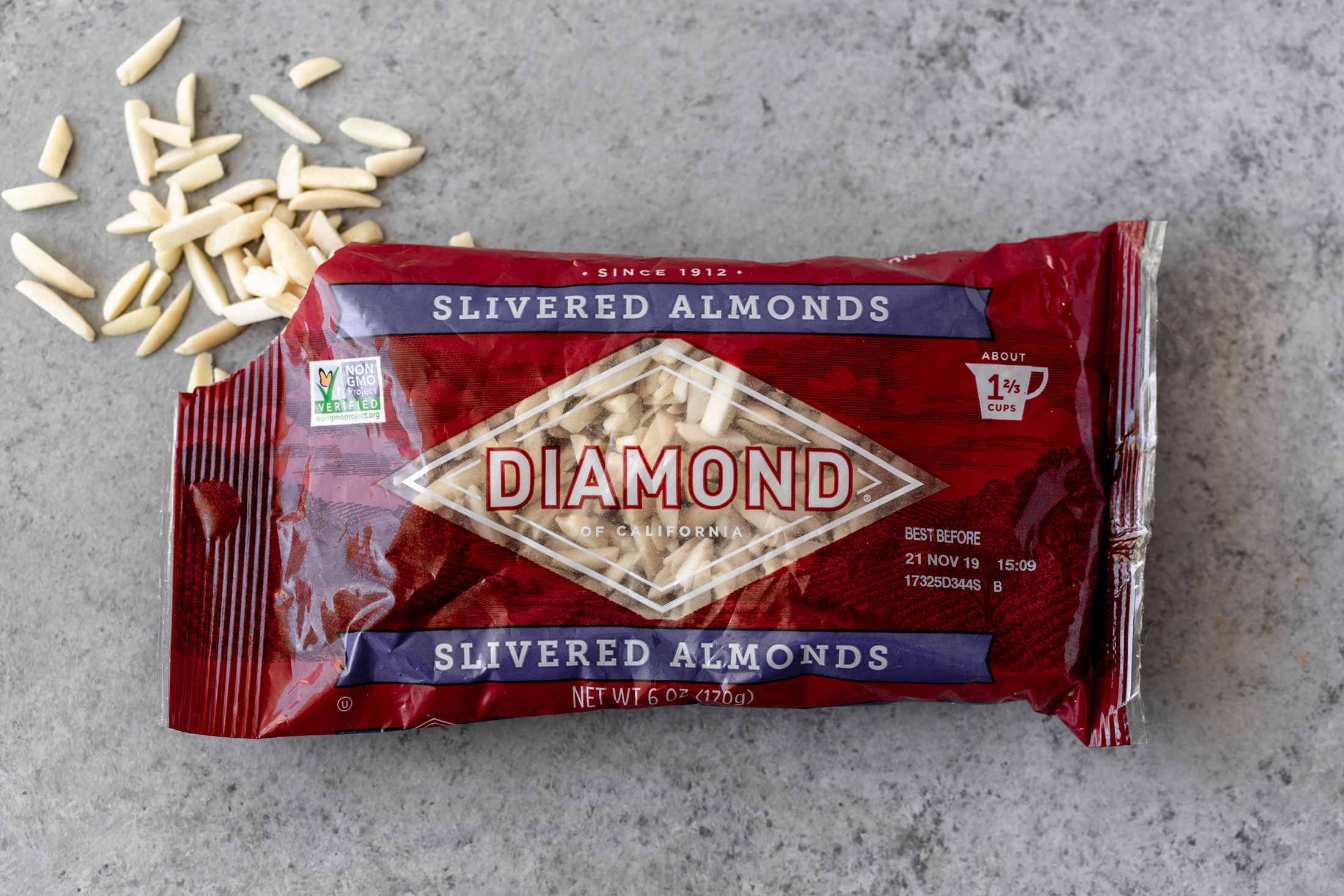 diamond nuts of california slivered almonds