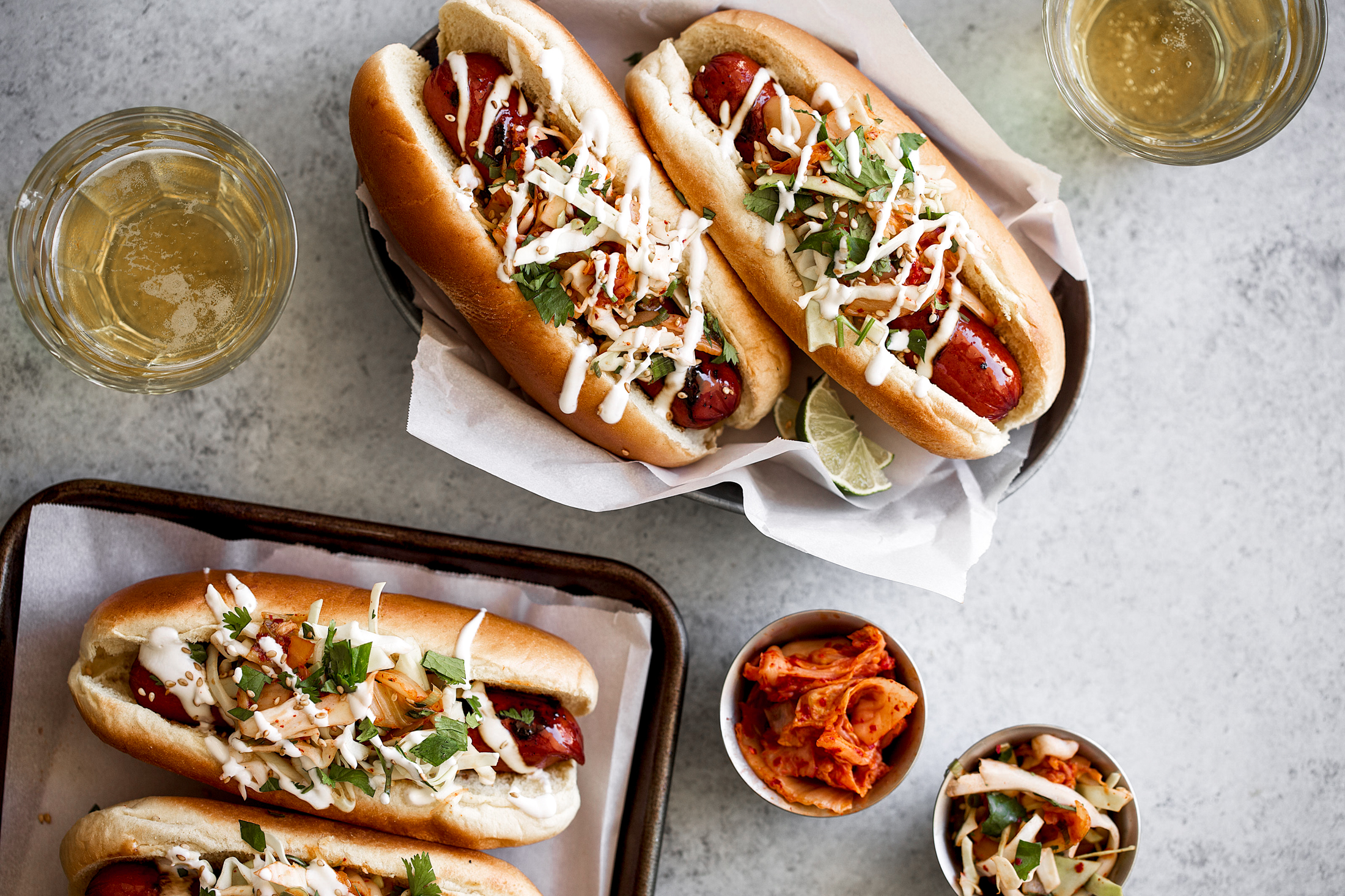 Soy-Glazed-Spicy-Korean-Kimchi-Slaw-Hot-Dogs