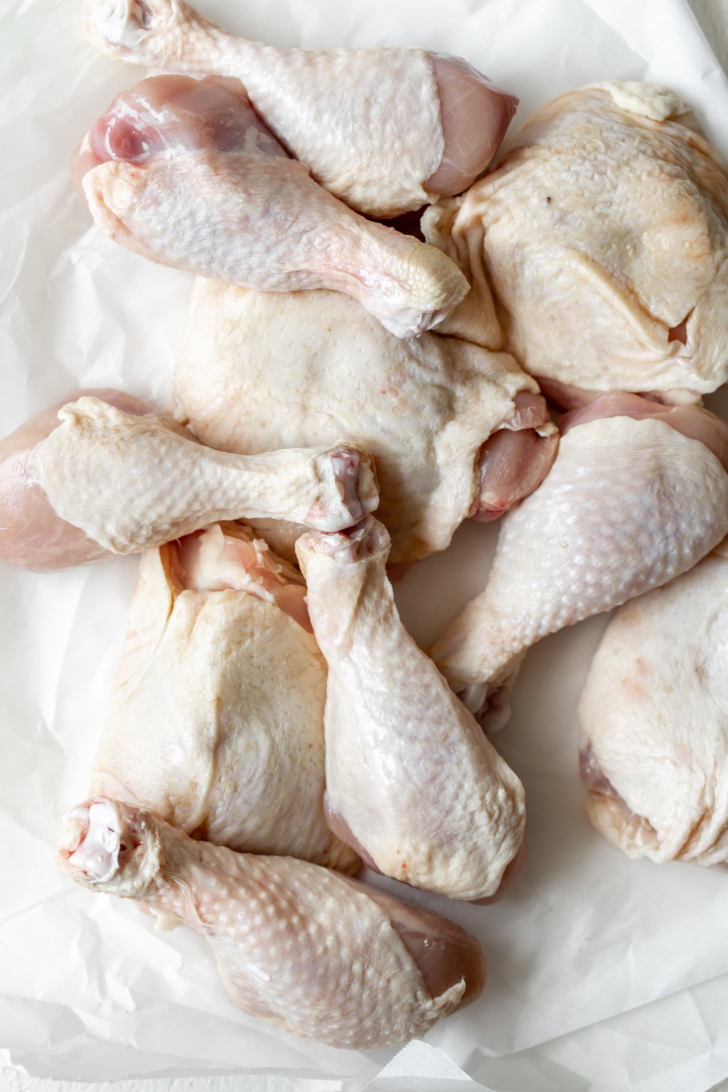 chicken thighs and drumsticks ingredient shot