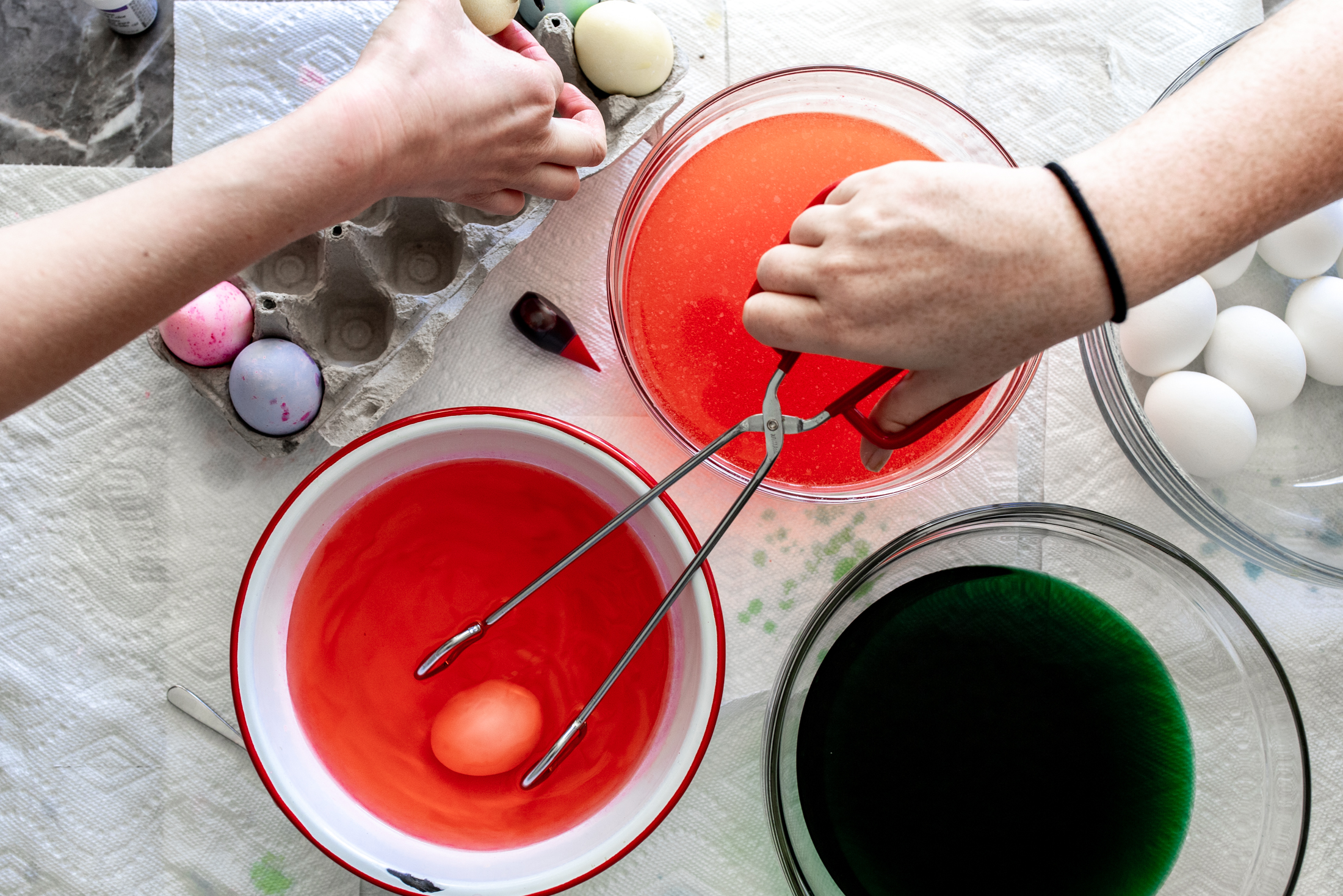 How to Dye Easter Eggs from cooking with cocktail rings