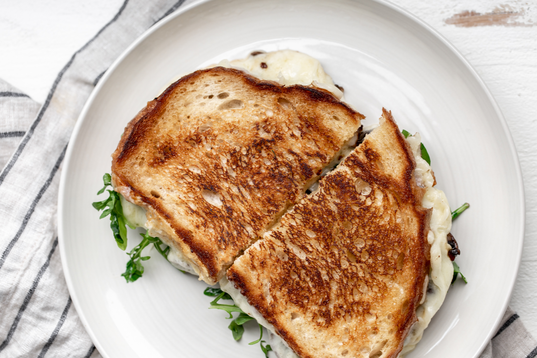 truffle grilled cheese recipe from cooking with cocktail rings golden bread