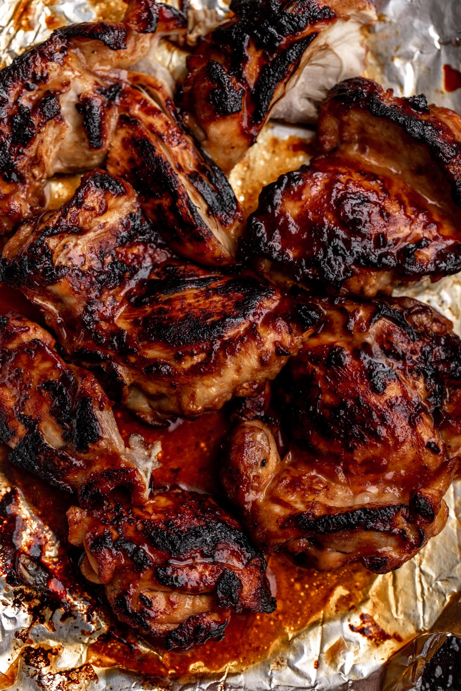 BBQ chicken ingredient shot