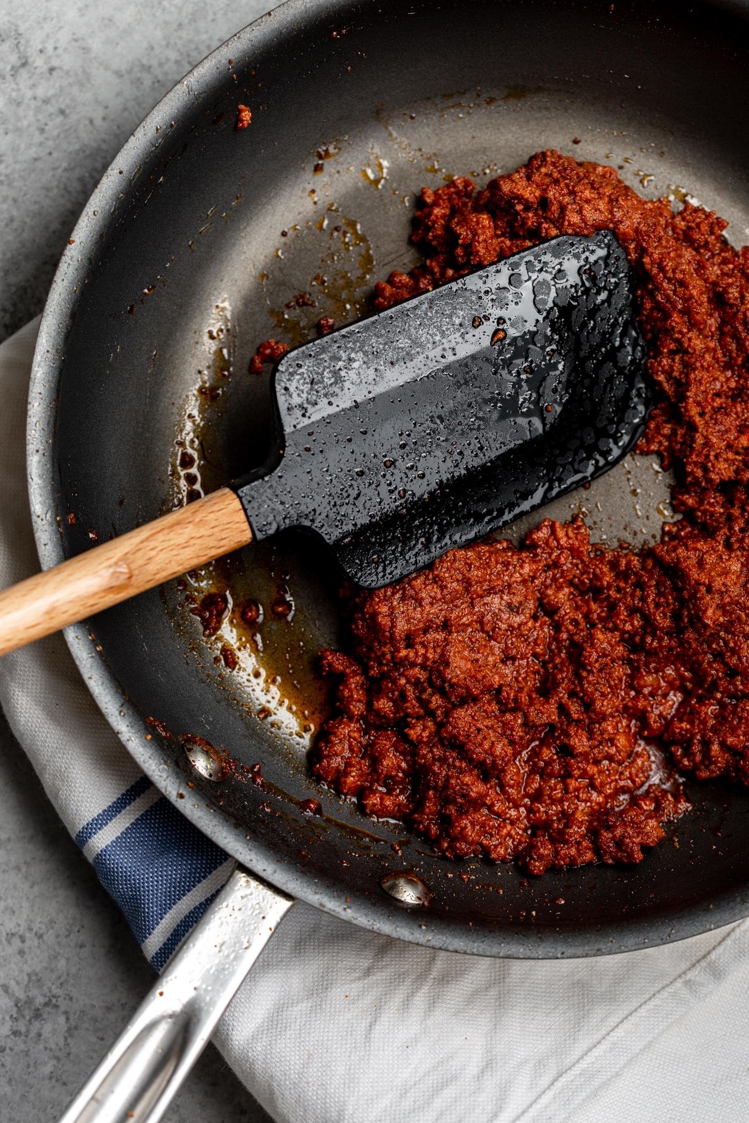 cooked chorizo ingredient shot