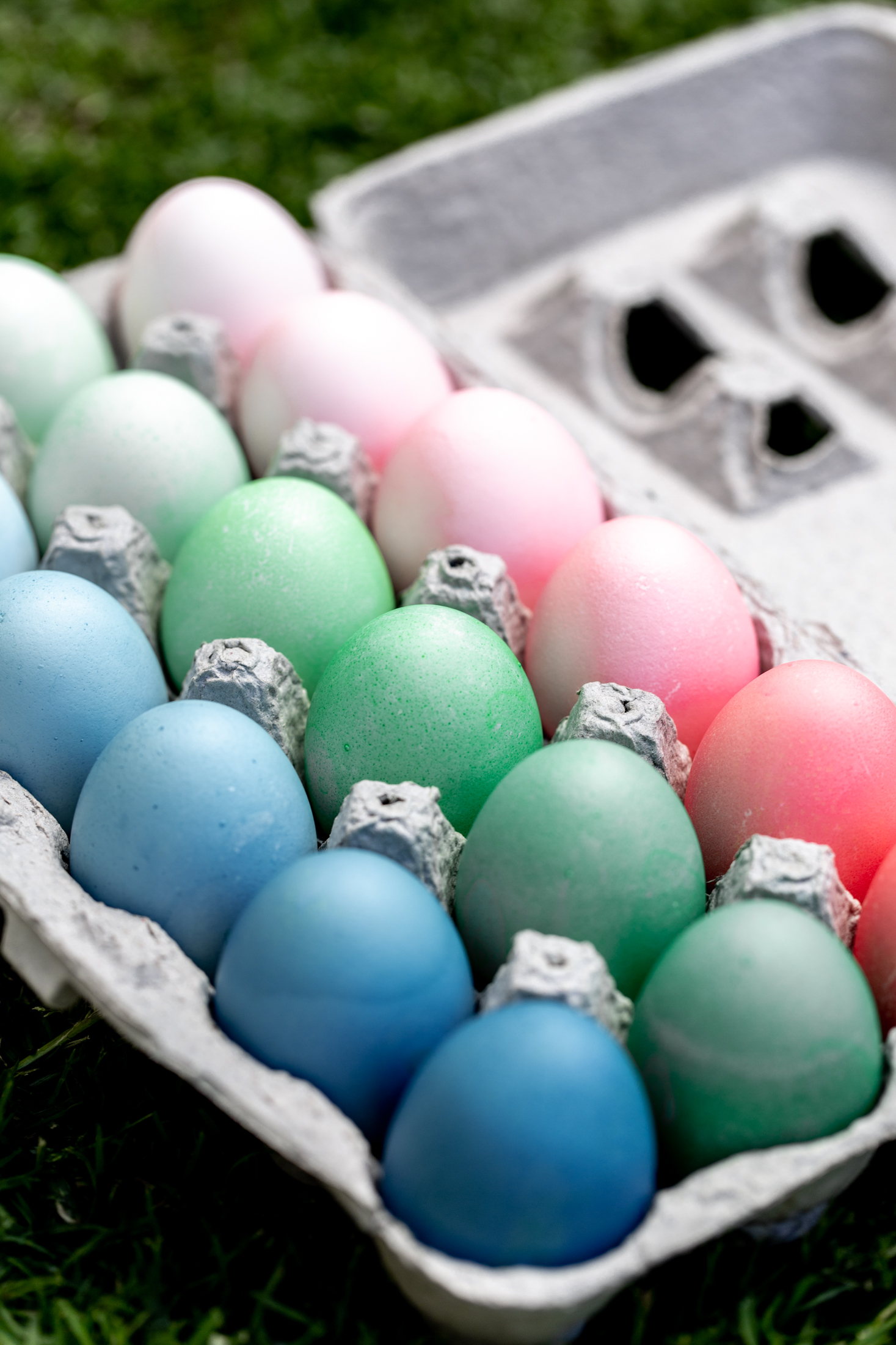 How to Dye Easter Eggs from cooking with cocktail rings closeup