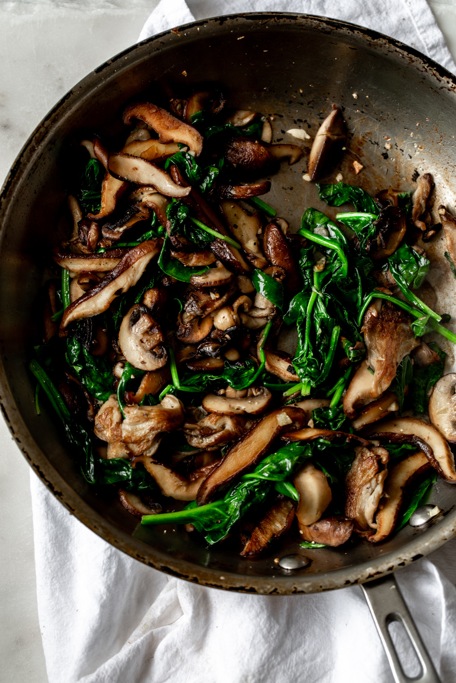 Mushroom and Spinach mixture sauteed