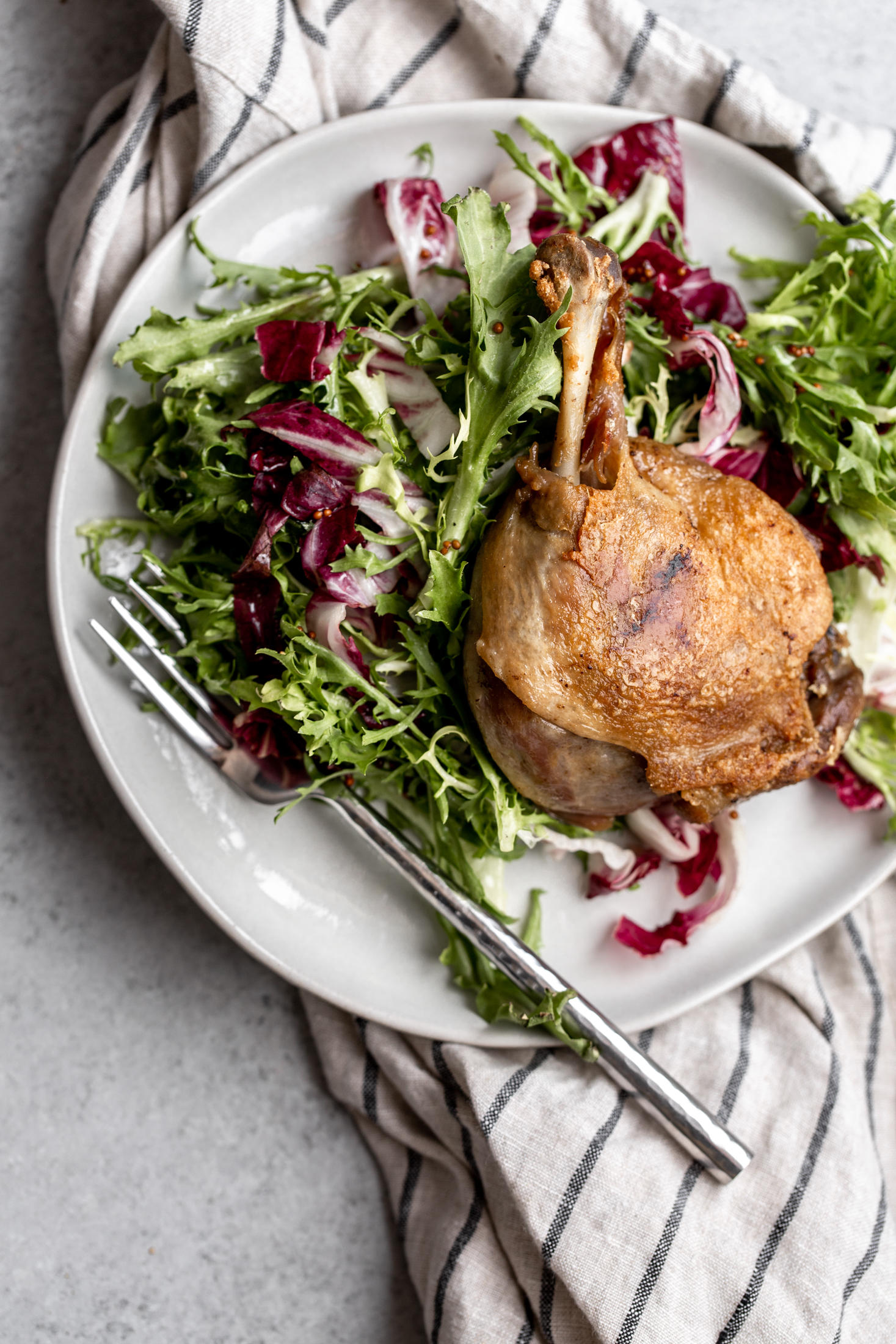 Confit duck legs recipe from cooking with cocktail rings