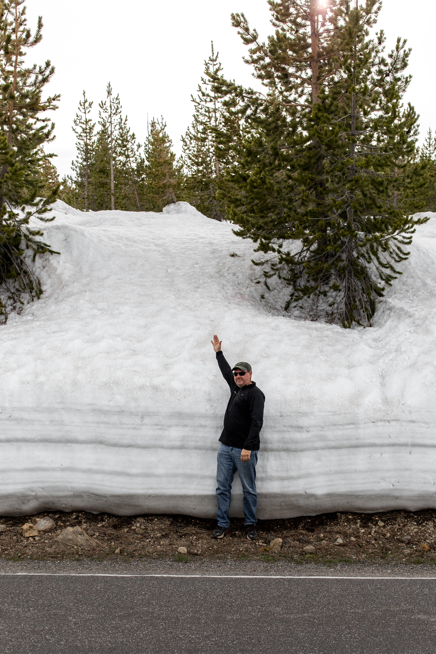 snow banks yellowstone