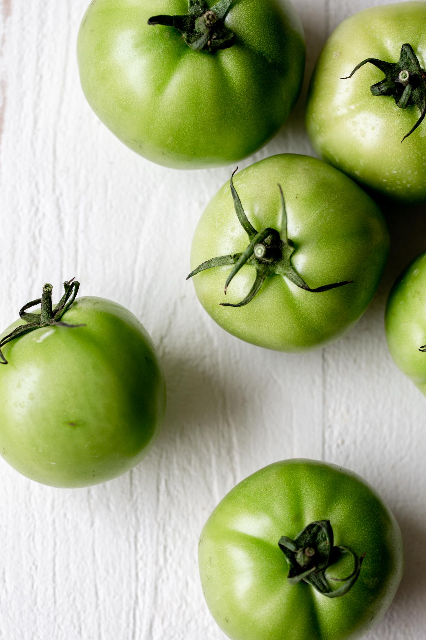 green tomatoes ingredient shot