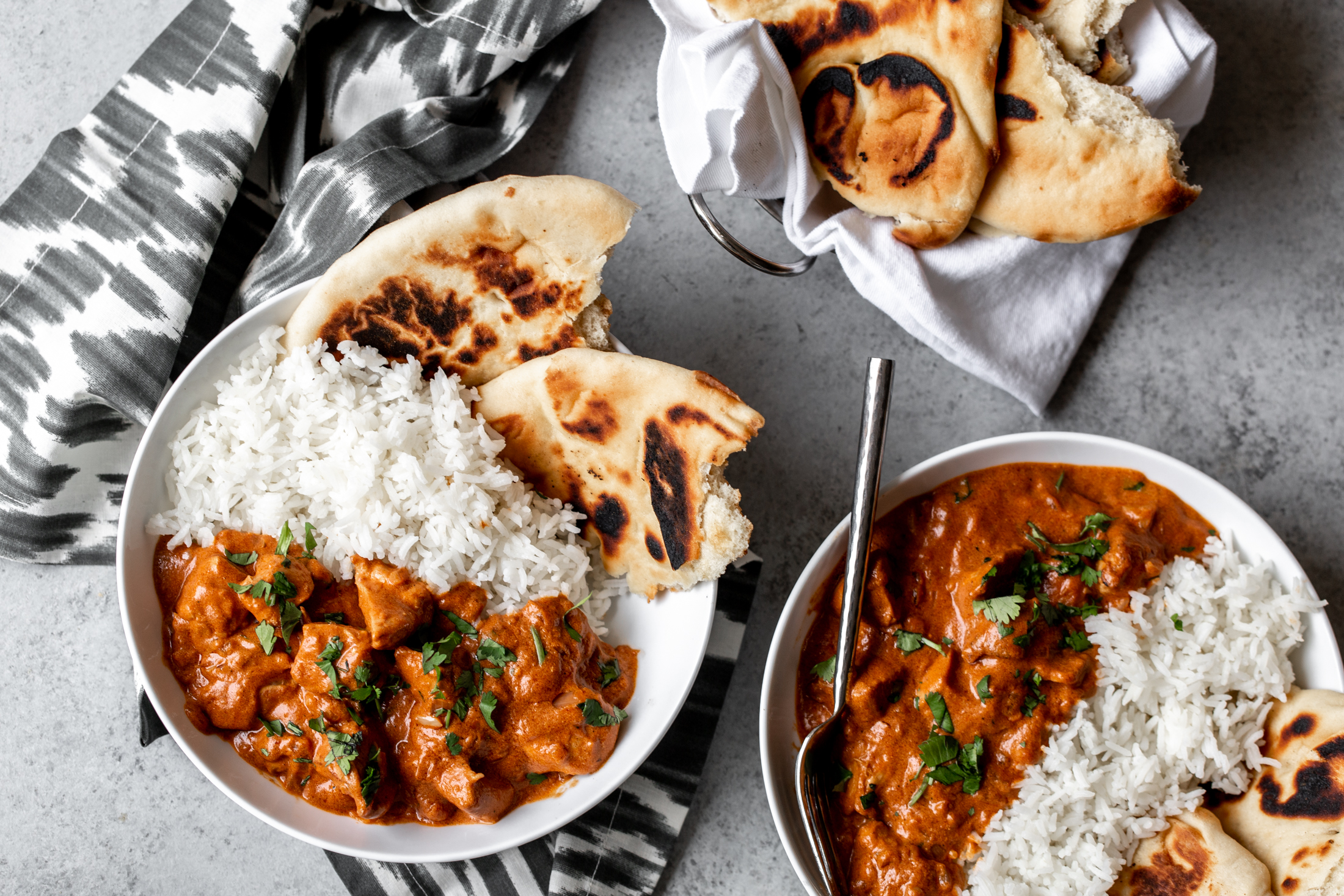 Indian Butter Chicken (Murgh Makhani) recipe from cooking with cocktail rings