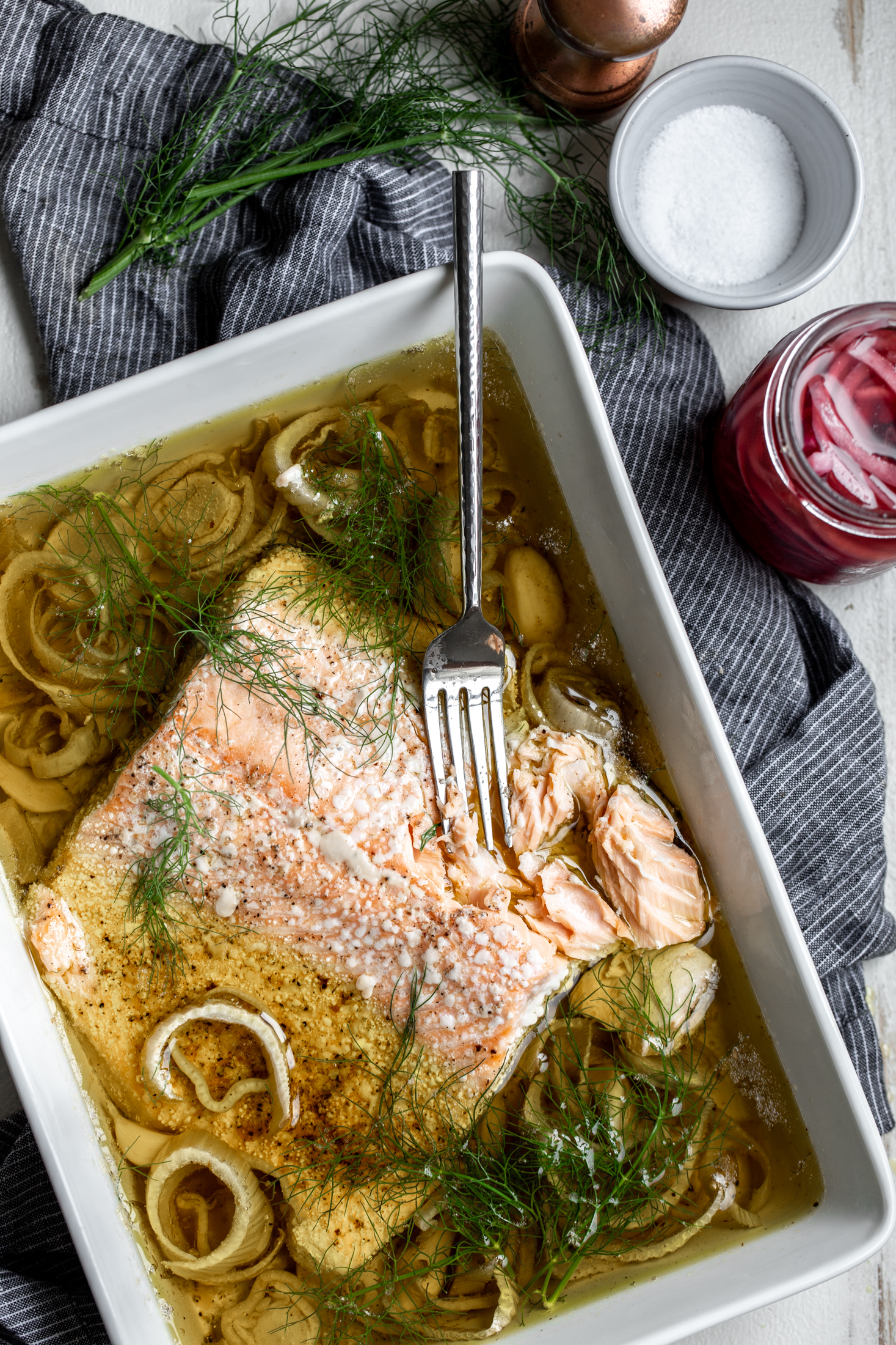 Olive Oil Slow-Poached Salmon with Fennel and Lemon Arugula Herb Salad-10.jpg