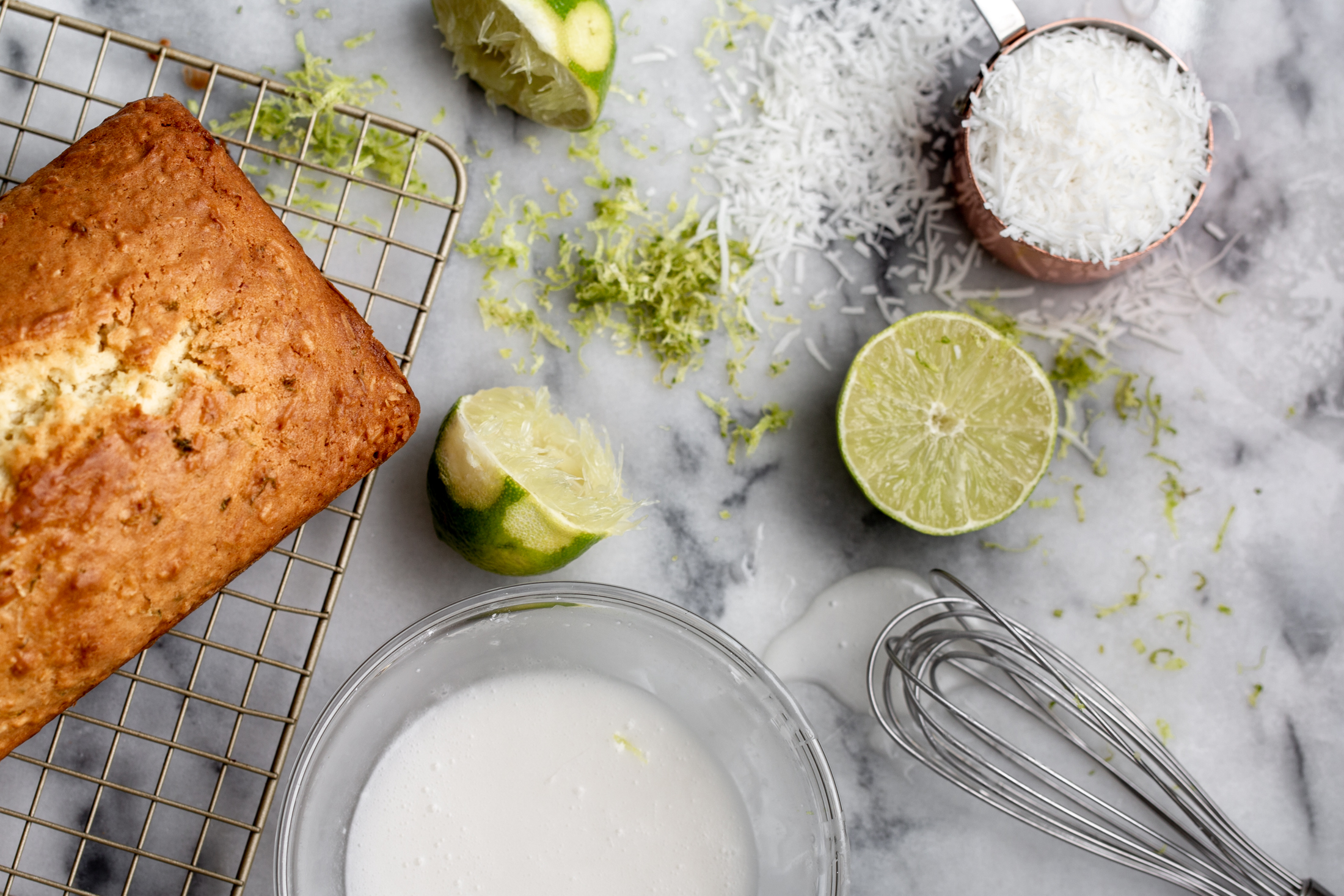 coconut lime bread from cooking with cocktail rings ingredient shot
