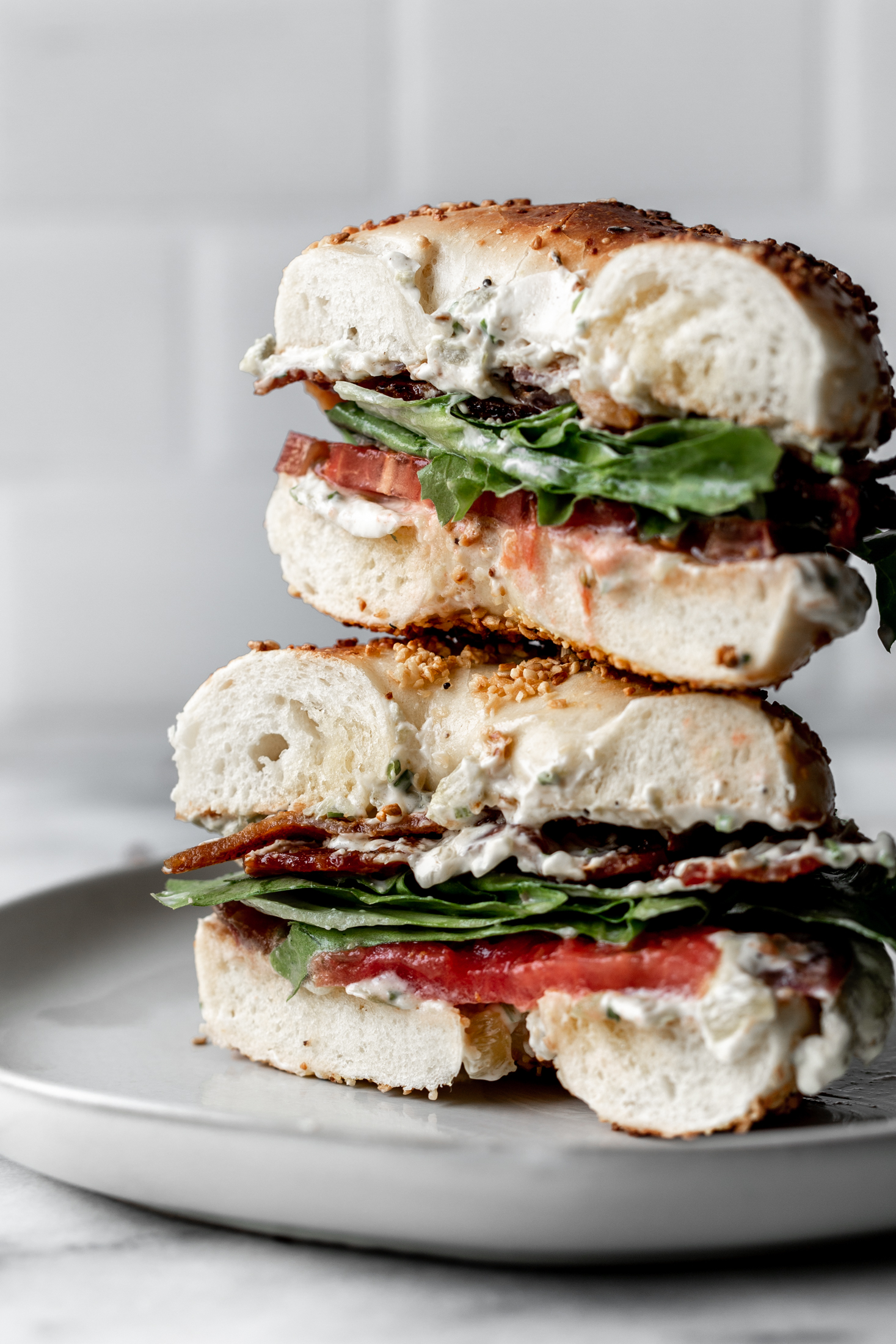 Blt Bagel With Hatch Chili Cream Cheese Cooking With