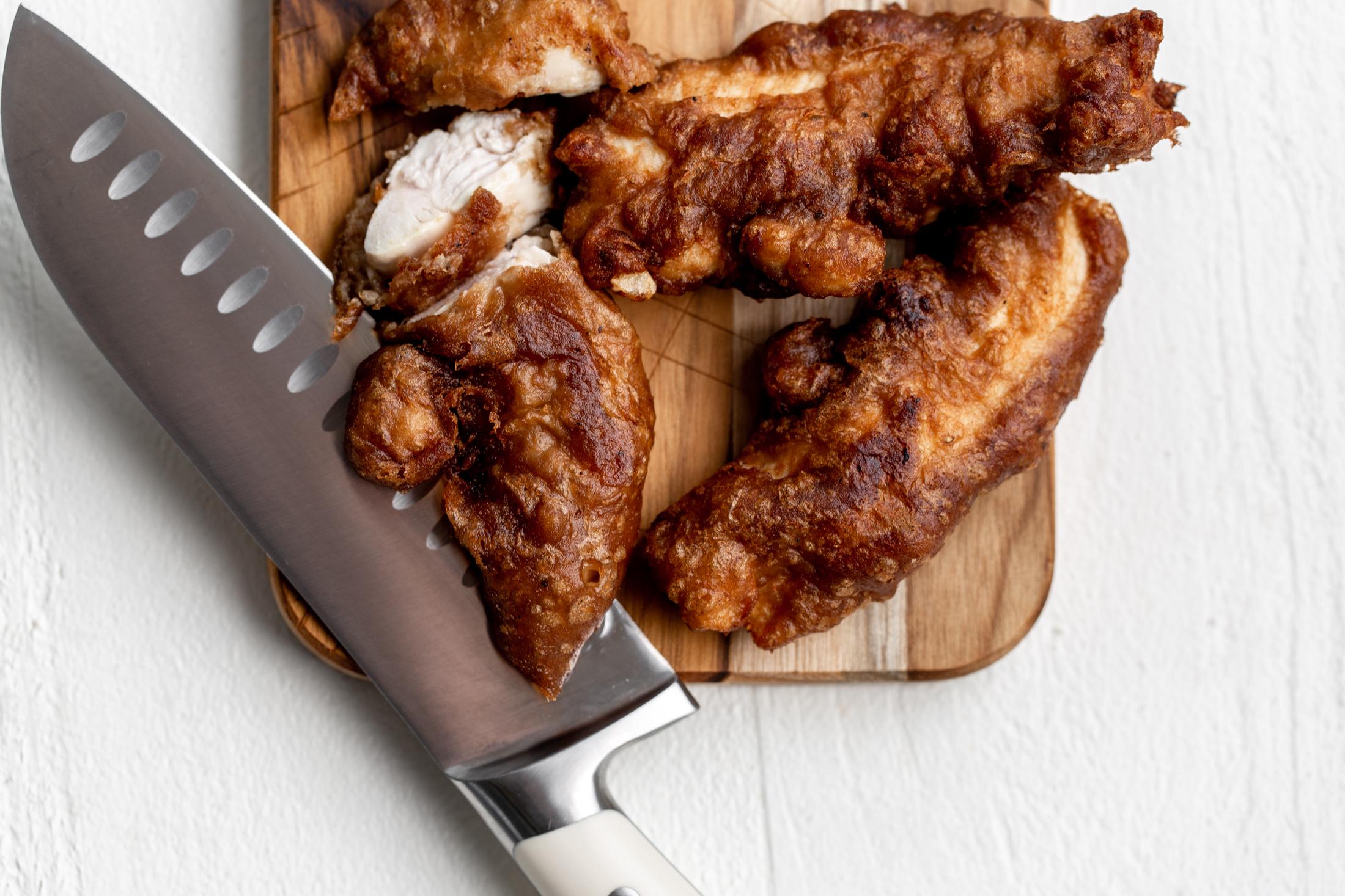 beer-battered fried chicken