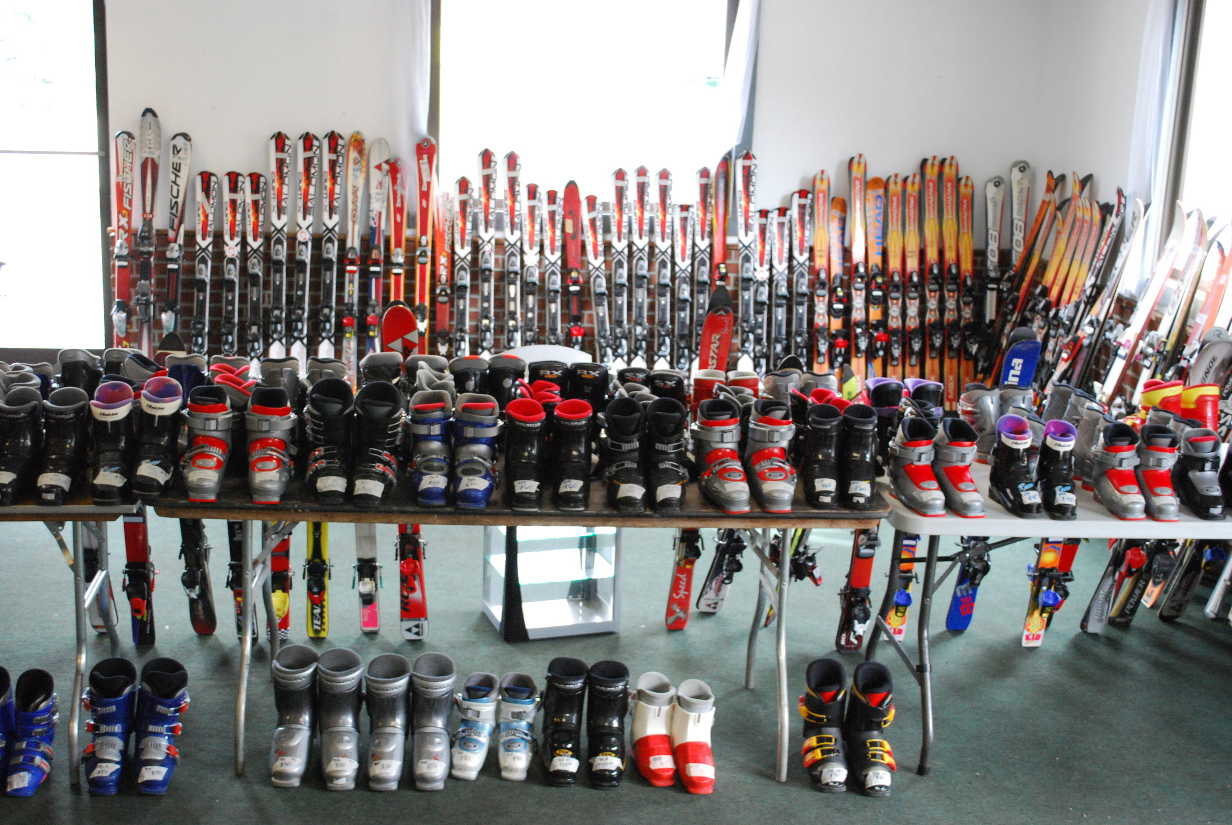 There will be lots of kids' skis and boots! - It is ideal to bring your child with you to properly fit them for equipment, but if they cannot attend bring their most current foot length and height!