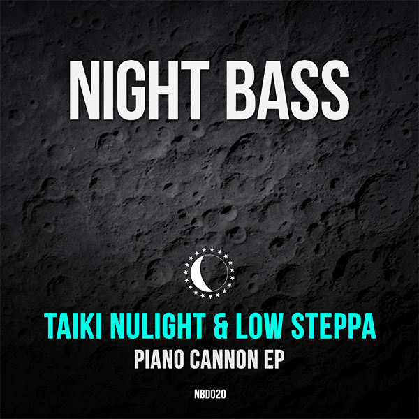 """Taiki Nulight and Low Steppa, two of our long time friends and favorite producers link up again for """"Piano Cannon"""", their second EP on Night Bass. The styles of the two producers collide in perfect form starting with the bouncy bubbling bass of the infectious title track, followed by the darker, quirky b-side cut """"Lazer"""". Two big guns from two big guns of bass-heavy house music."""