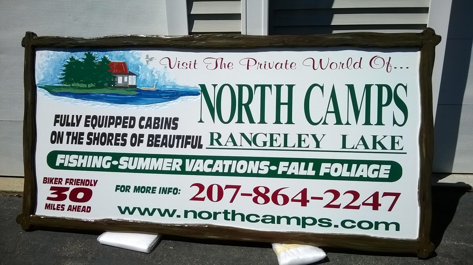 Fran Gibson Maine -Sign- North Camps.JPG