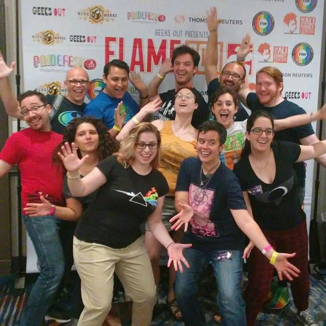 Thanks, #FlameCon2! What a fabulous audience! 🌈🎤 #geekapella