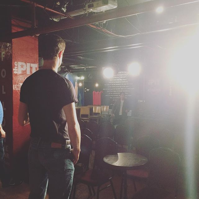 Mic check at @thepitnyc Underground! See you at 4:30 🎤