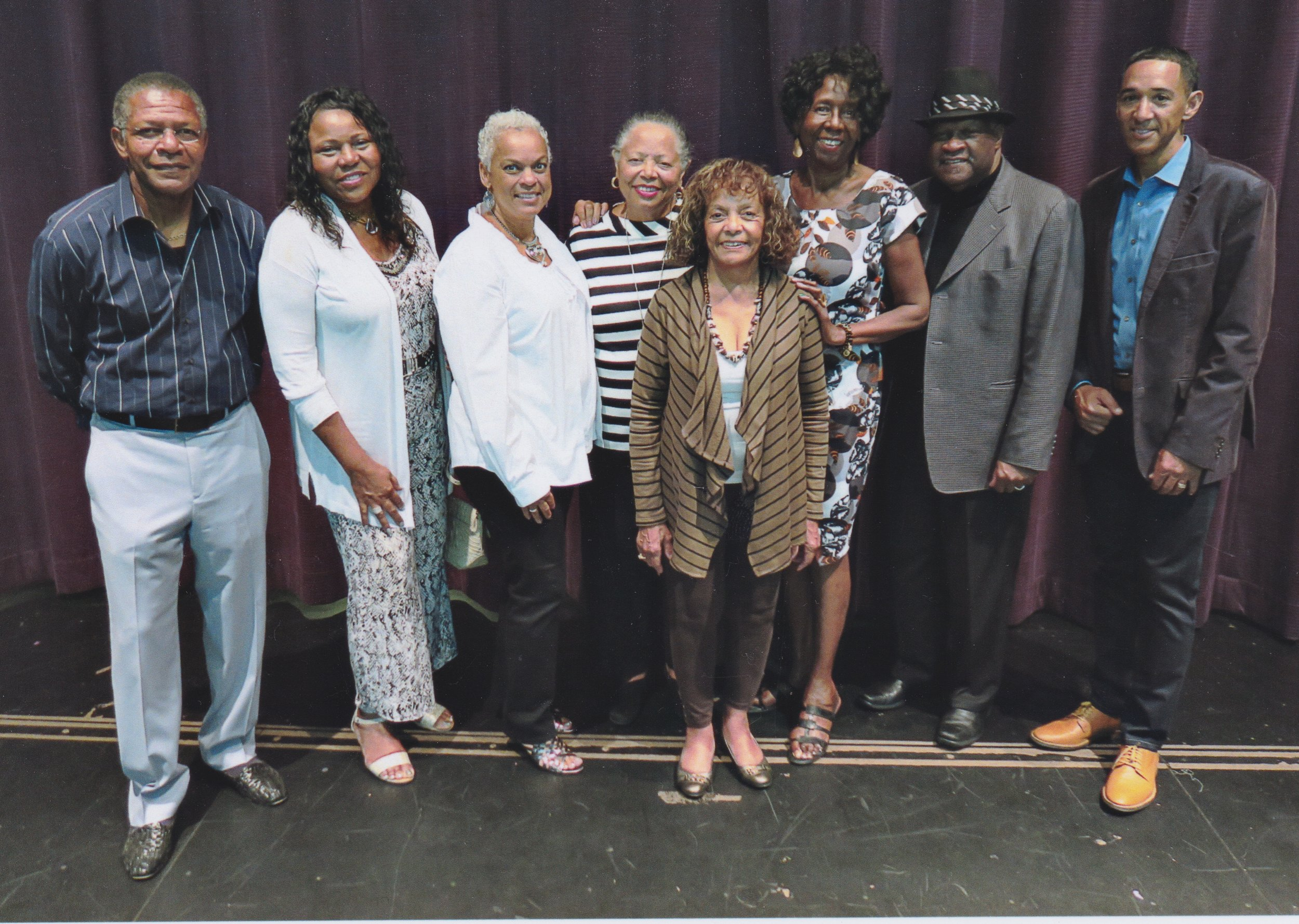 Panel assembled after the showing of the film. They engaged in a lively discussion after the film. Mike Beaseley, Mattie Hill, Vanessa Williams, Kathy Cotton, Janie Jensen, Bev Parker, John Hill, Rick Isom