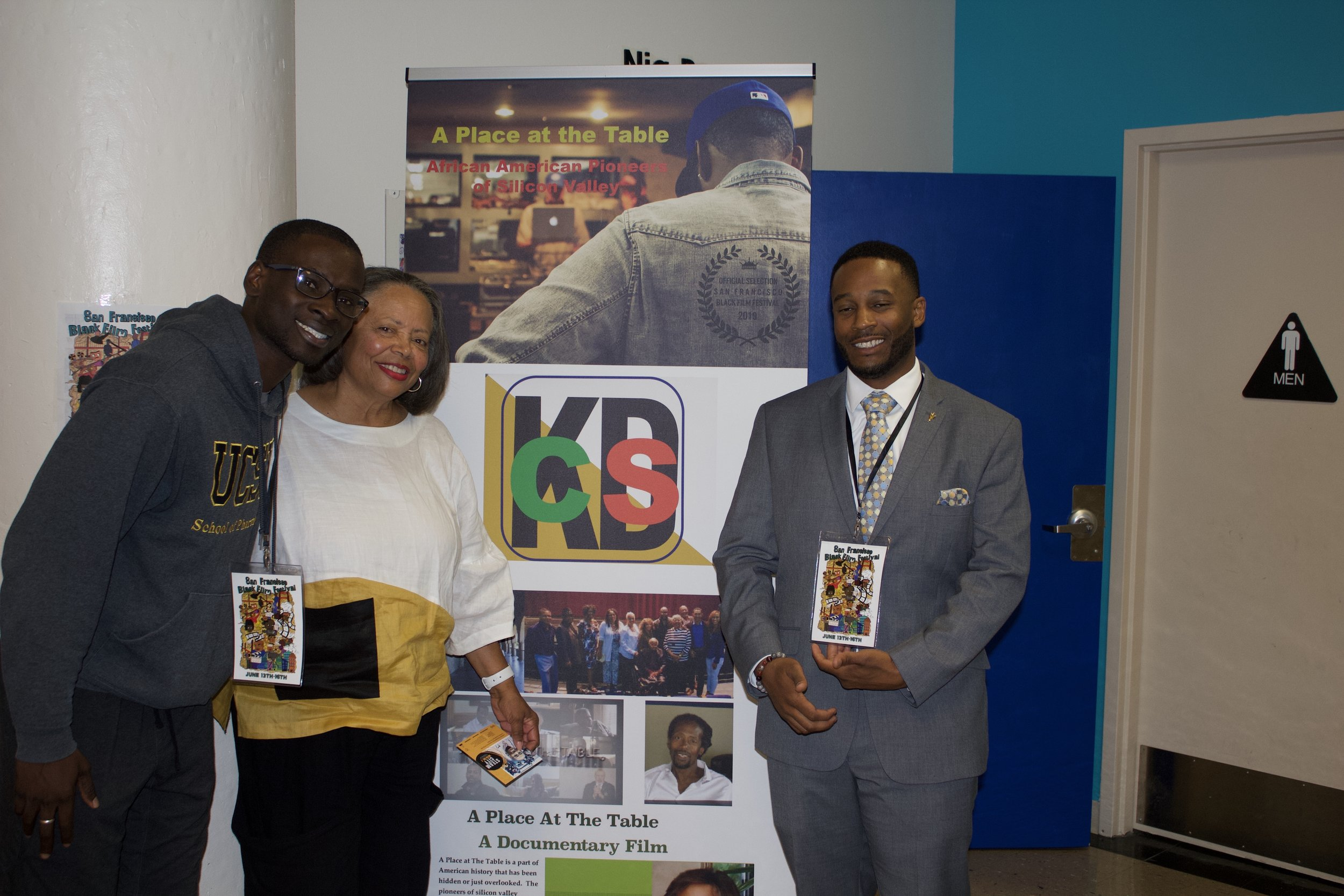 "Thanks to SFBFF - Sharing spotlight with Dr. ""T"" Tucker PhD, at the San Francisco Black Film Festival. July 15, 2019."