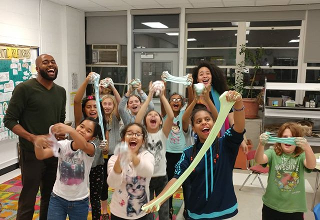 Happy #holidays from the #slimey after school #STEM class from @bancroftdc. #STEMkids #girlsinSTEM #STEM4all #FiLS #DCSTEMNetwork #livelearnshare #HappyHolidays #slime #chemistry