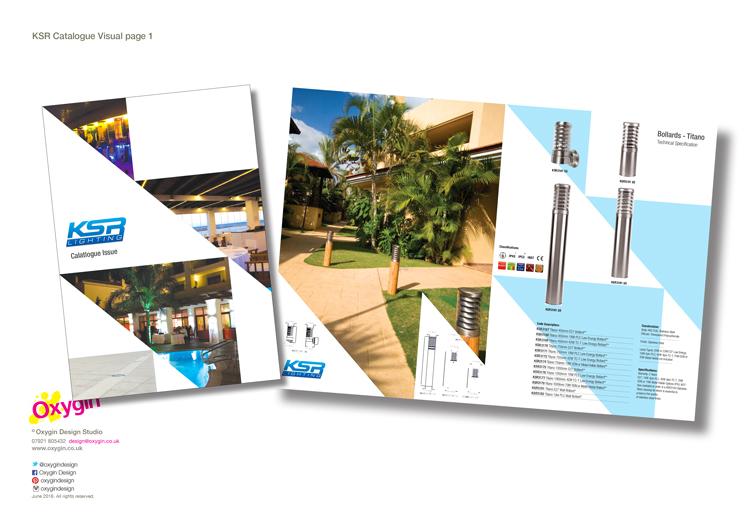Catalogue artwork visuals for KSR Lighting.