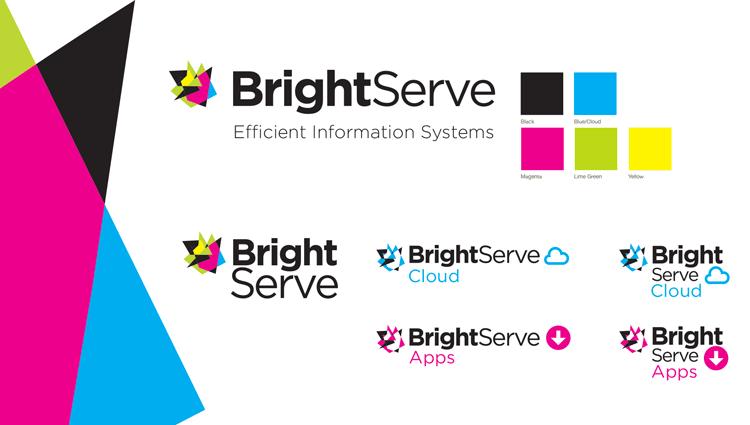 BrightServe logo and brand identity
