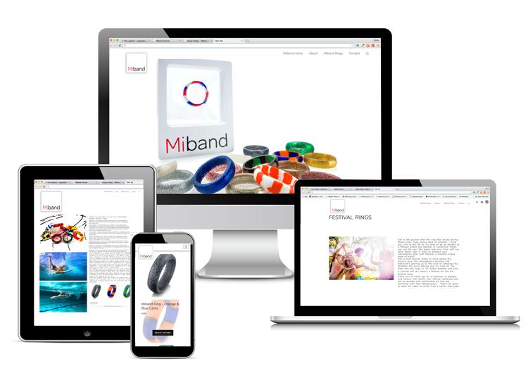 Miband website and logo design