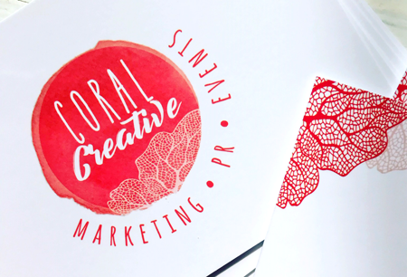 Logo Creation and Business stationery for Coral Creative