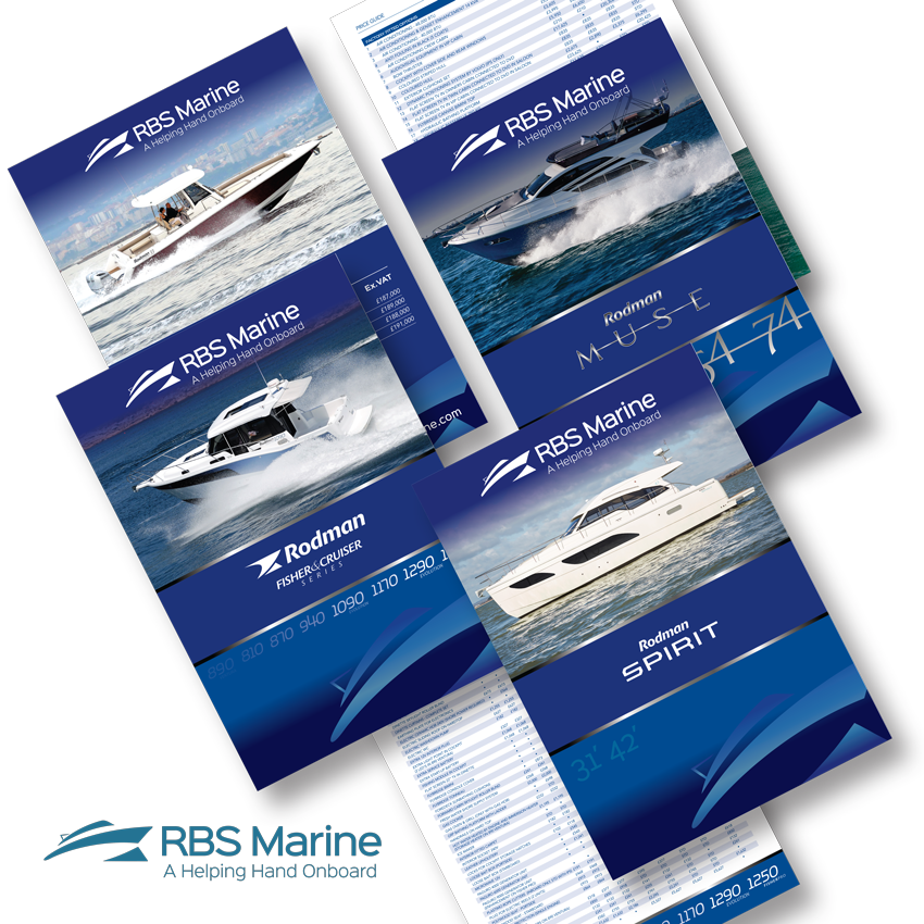 Luxury Price lists artwork updates with the new branding for RBS Marine.