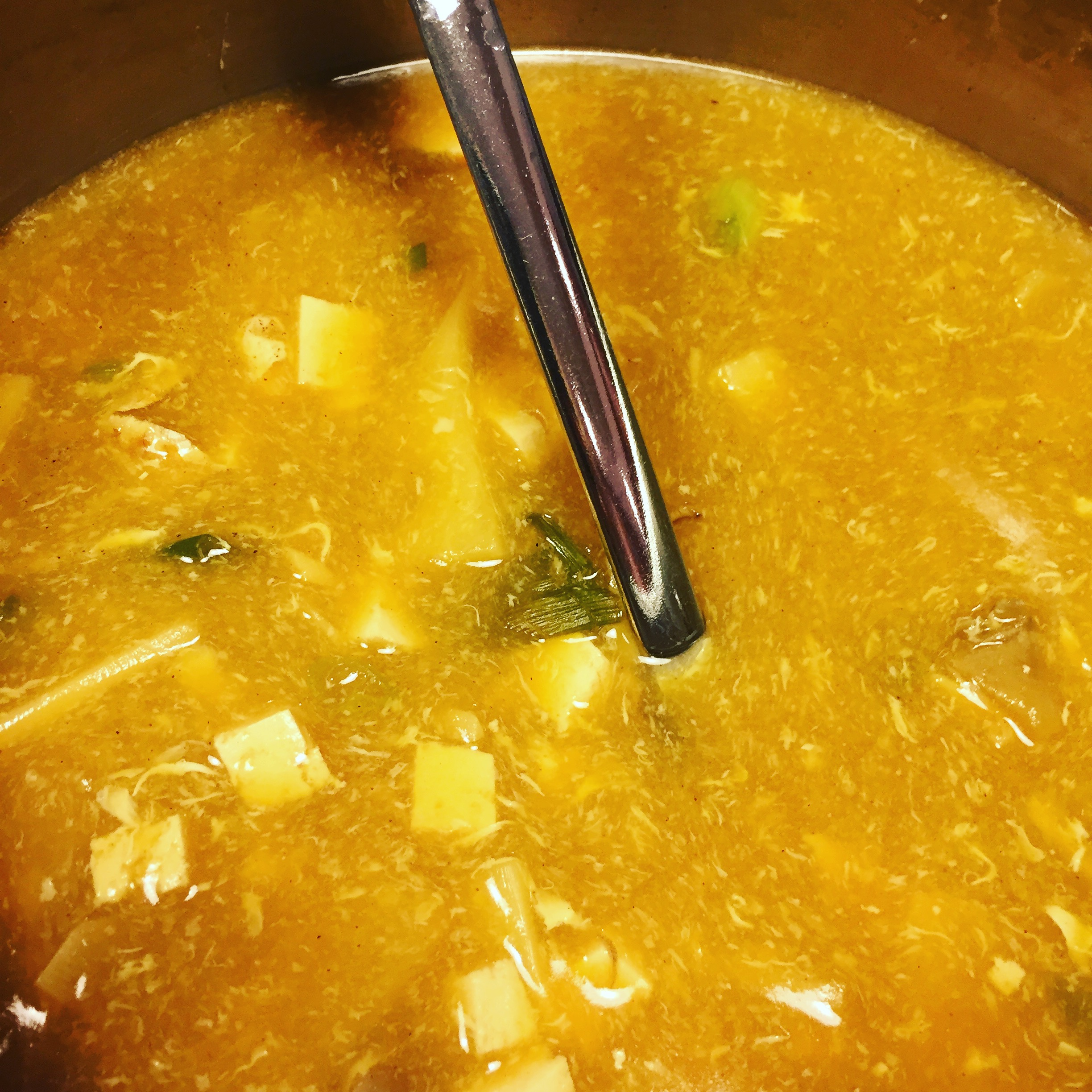 Yummy Healing Goodness in this pot of Vegetarian Hot and Sour Soup!