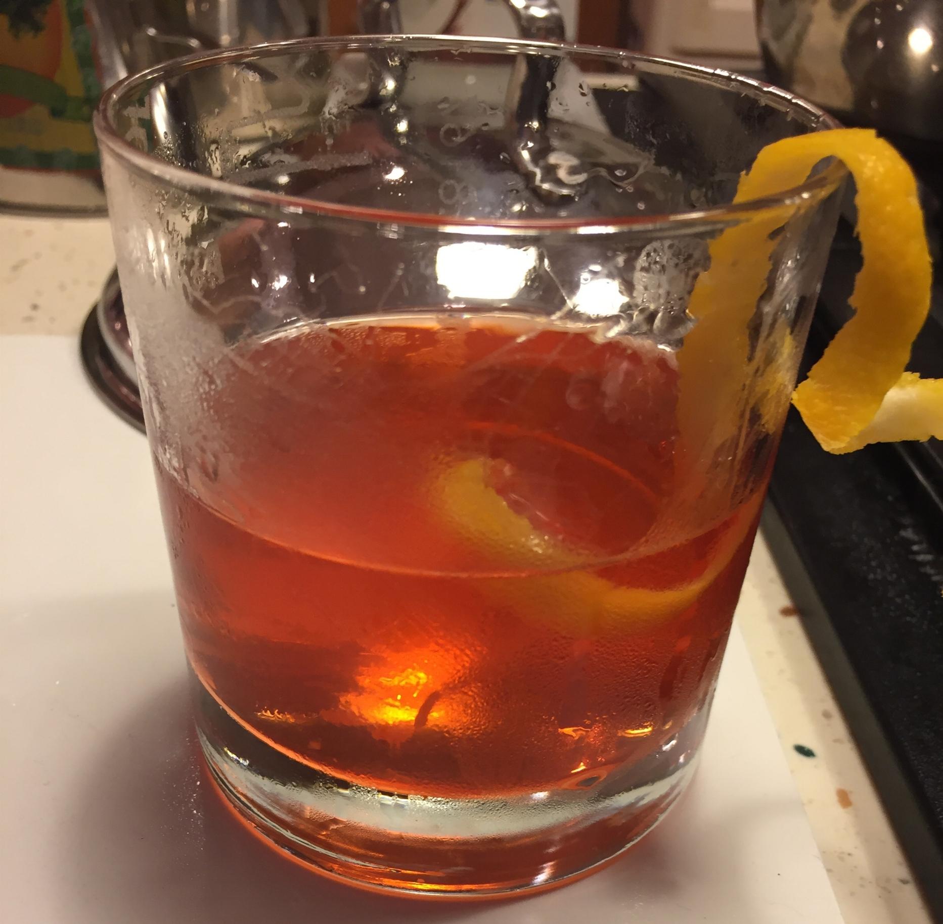 My pre-dinner strengthening elixir....Dave's amazing Sazerac!