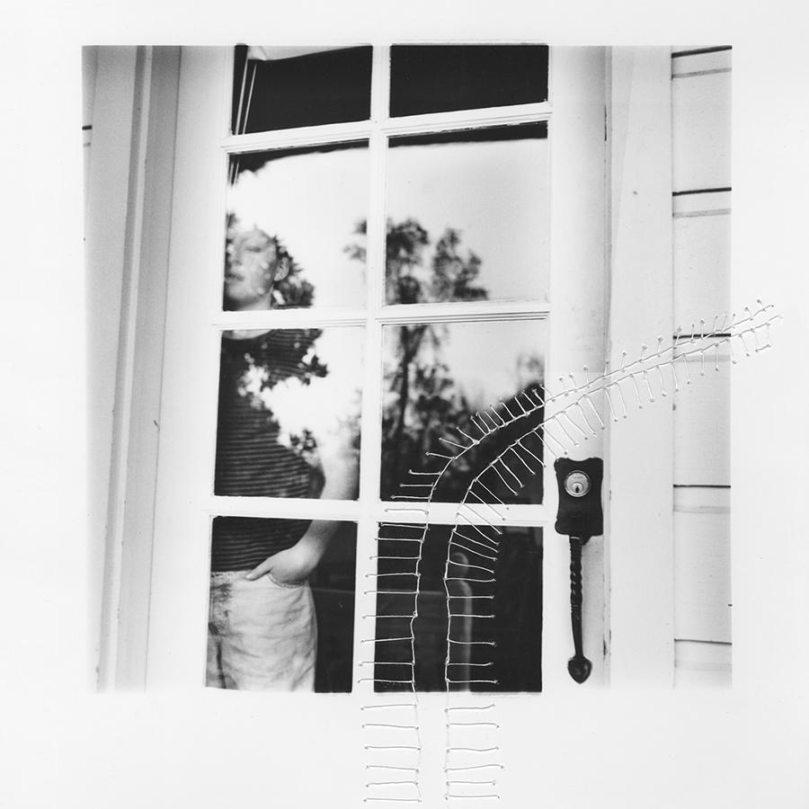 "ruptured ""girls at eleven"" no. 25 Material: Silver gelatin print, linen thread 1998/ 2014"