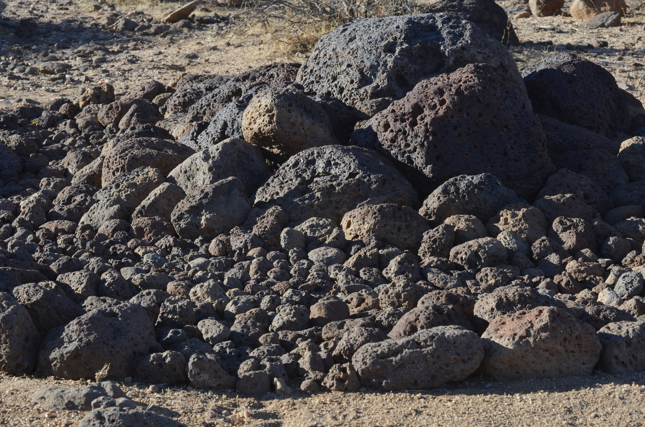 detail - lava rocks ( basalt)