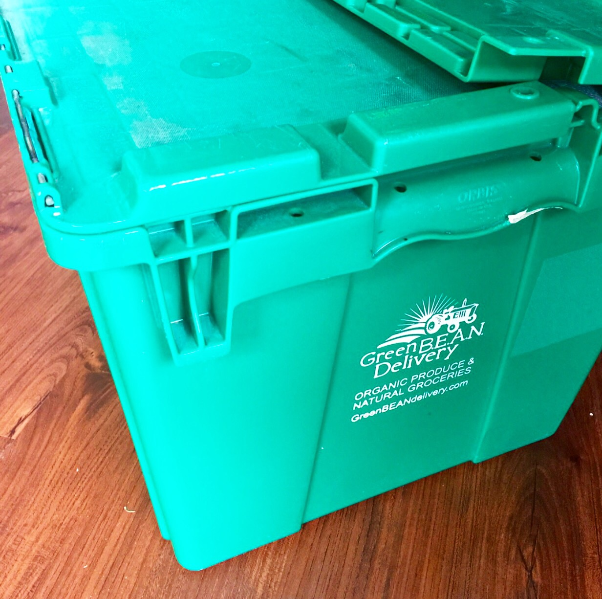 This green bin was waiting at my doorstep!