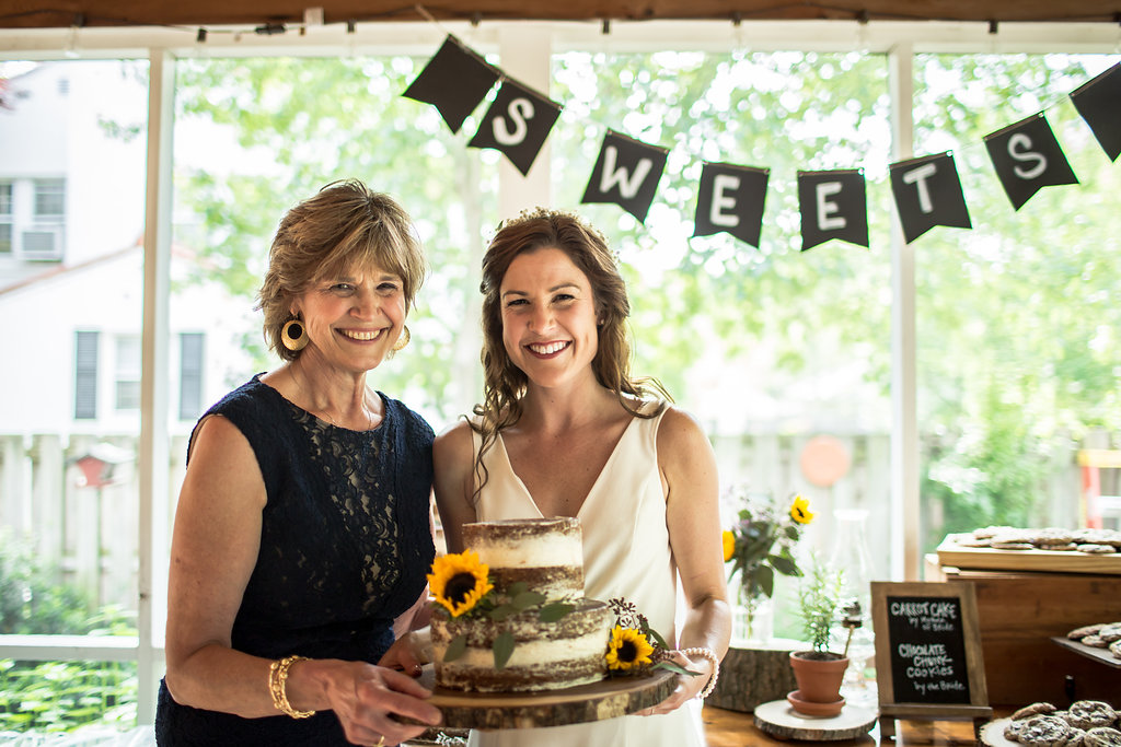 Cheesin' with my mom - the best wedding cake baker I know!