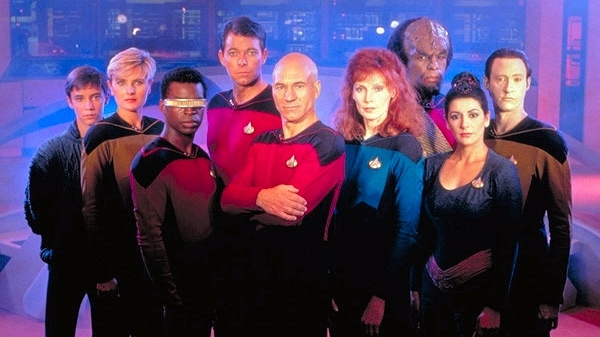 "Publicity photo for season one of ""Star Trek: The Next Generation"""