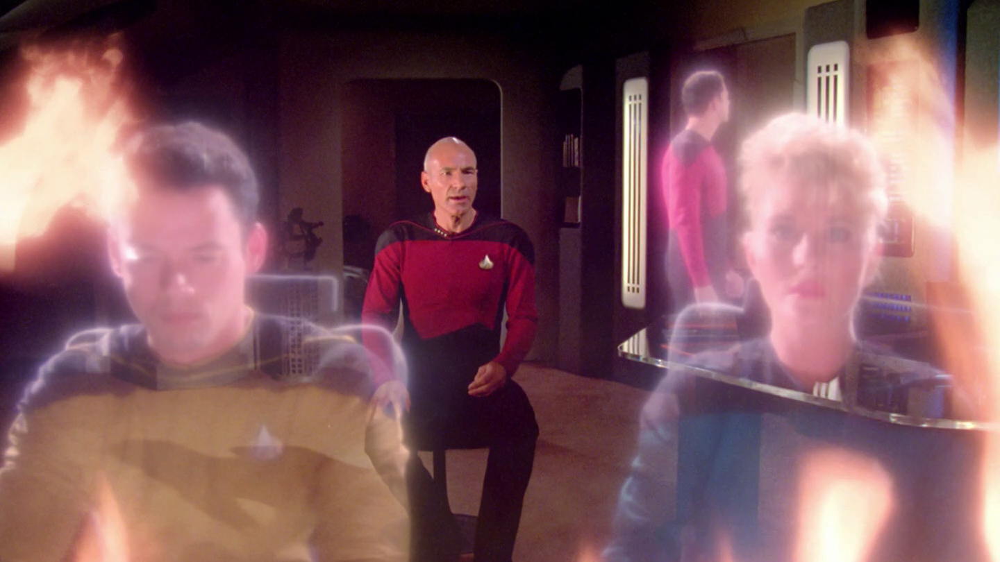 Picard relives his experience on the Stargazer.